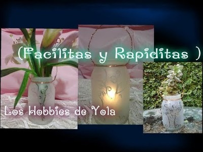 Personaliza frascos de vidrio con esmerilado casero (FyR). Los Hobbies de Yola