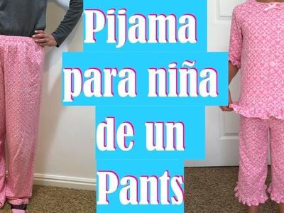 Pijama Para Niña de un Pants.
