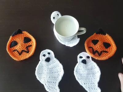 POSAVASOS DE FANTASMA en crochet.ganchillo || @laludiy