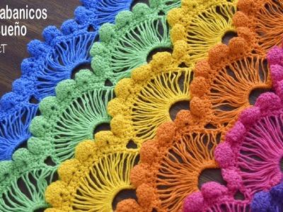 Punto abanicos de ensueño tejido a crochet. Tejiendo Perú
