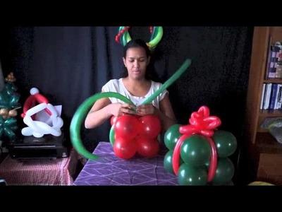 Regalo para navidad en globos
