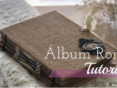 Scrapbooking Tutorial: Álbum Roma. Encuadernacion Entrelazada. Album de Viaje.