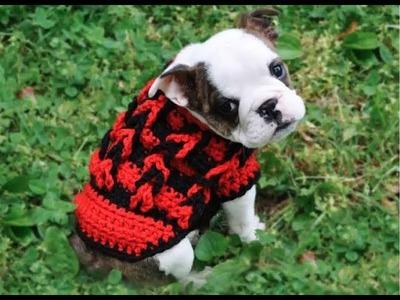 Suéter para perros tejidos a crochet