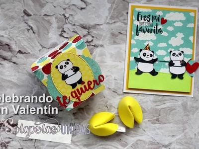 Tarjeta interactiva, caja de comida china y galletas de la suerte! Regalos de San Valentín