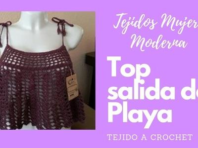 TOP SALIDA DE PLAYA Tejido a Crochet