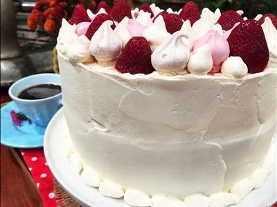 Torta de crema de frutillas