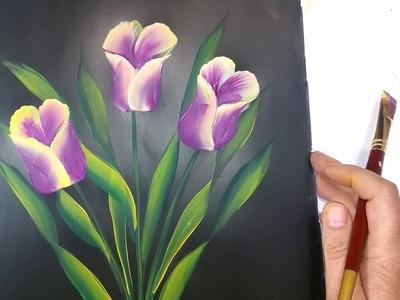 Tulipanes en doble carga faciles de hacer Sonia R.A.