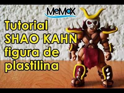 Tutorial-MK SHAO KAHN DE PLASTILINA.CLAY.PLASTICINE.HOW TO MAKE