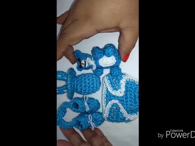 #1de5 Set de 4 figuras en crochet para baby shower
