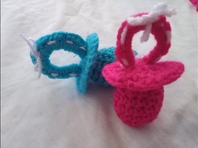 #2 chupón en crochet para baby shower