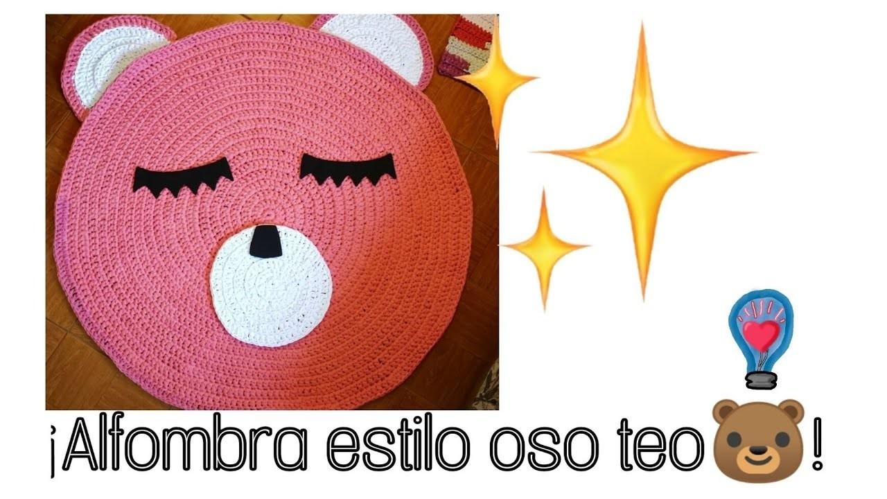 Alfombra de oso teo???? a trapillo | #Crochet circular