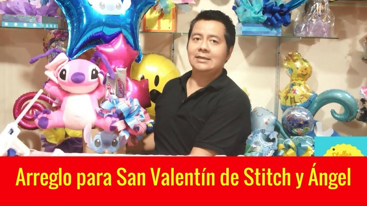 Arreglo de amor Stitch. Arreglo de san valentin para hombre o mujer