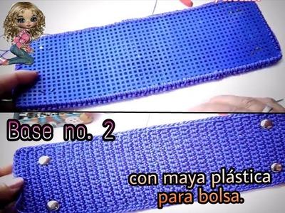 Base No 2 a Crochet con maya plastica para tus bolsas