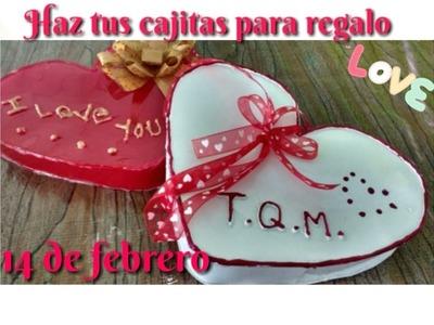 Cajitas para regalo 14 de febrero by MDCchocoregalo