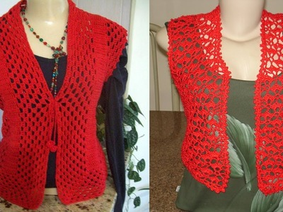 Chalecos - Trajes para Damas. Tejidos a Crochet