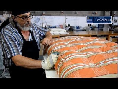 Colchón de lana convertido en sofá cama