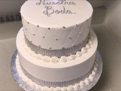 Como decorar un pastel de boda civil facil y rapido