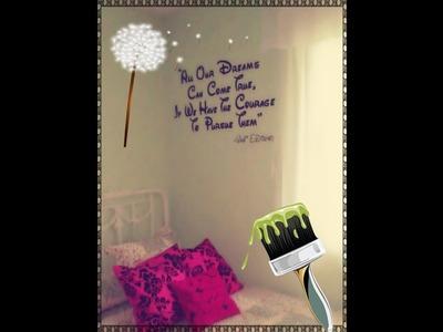 ((ღComo escribir una frase, con pintura, en la pared de tu habitaciónღ))