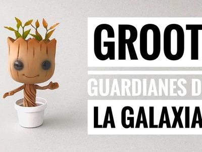 Cómo Hacer a Groot de Guardianes de la Galaxia | de Porcelana Fría | Pasta Flexible