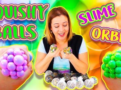 Cómo hacer PELOTAS ANTIESTRES de SLIME y ORBEEZ | DIY SLIME and ORBEEZ Stress Balls
