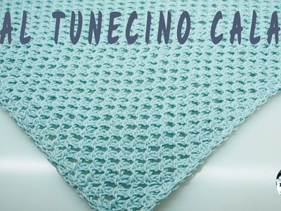 Cómo hacer un Chal calado tunecino - Punto calado #9 - Crochet tunecino - Tutorial paso a paso