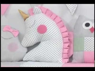 Como hacer un cojin de unicornio. 4.5