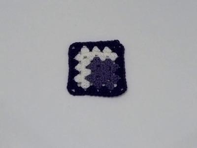 Como hacer Un granny square en crochet paso a paso