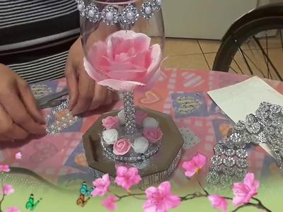 Como hacer una copa para centro de mesa