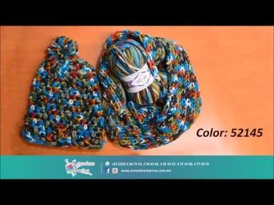 Cómo tejer una bufanda en agujas fácil y rápido, Alize Superlana Multicolor - Estambres Karina