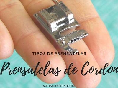 Como utilizar el prensatelas de cordón o cording foot