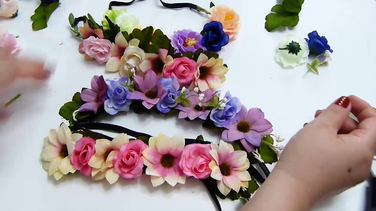 Corona Flores Artificiales, Corona de Flores  todas las edades????,????By Ana Maria paso a paso #100