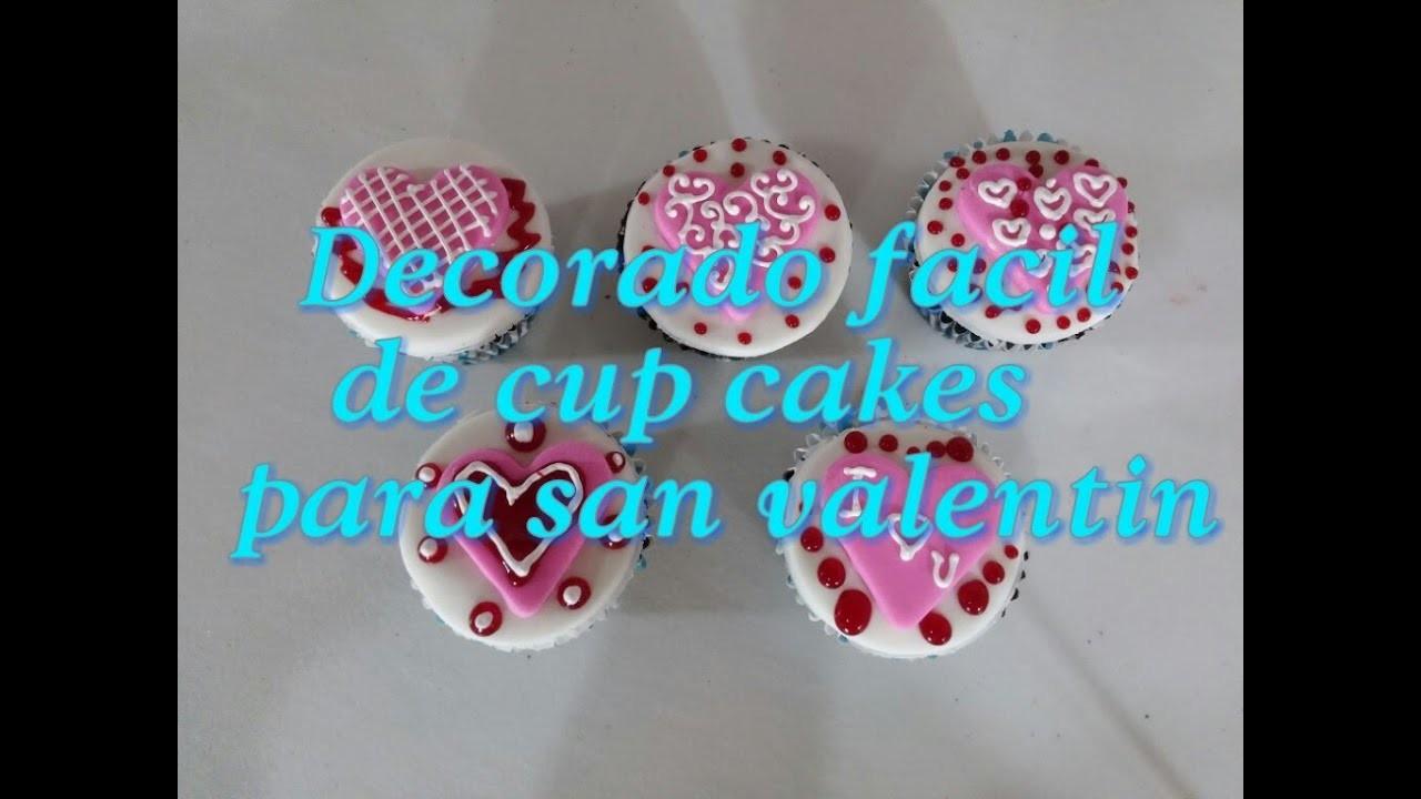 Decorado Fácil De Cup Cakes Para San Valentindía Del Amor Y