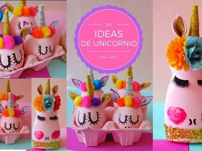DIY 2 ideas decorativas de unicornio super faciles