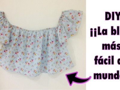 DIY ¡La blusa más fácil del mundo! - Tutorial blusa hombros descubiertos- Uvalove ♥