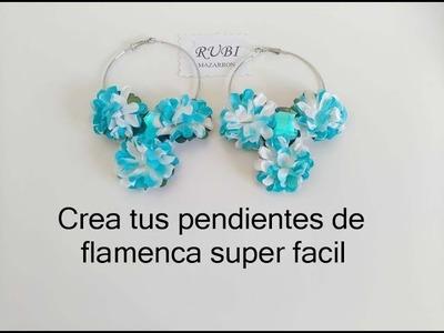Diy. Pendientes de flamenca muy facil