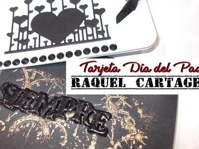 DIY TUTORIAL tarjeta embossing dia del padre scrapbooking tarjeteria