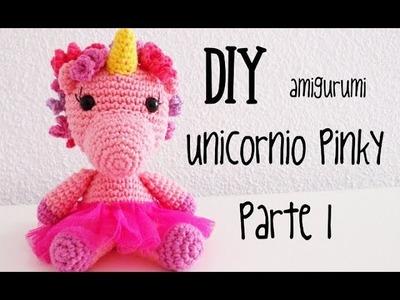DIY Unicornio Pinky Parte 1 amigurumi crochet.ganchillo (tutorial)