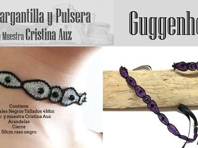 Encaje de Bolillos Pulsera y Gargantilla Guggenheim