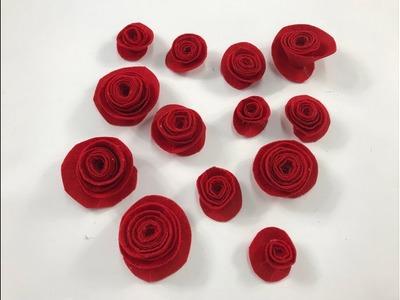 Flores en fieltro Flowers made in felt