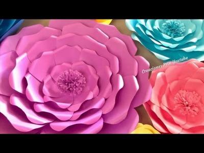 Flores Gigantes de Papel para decoración.