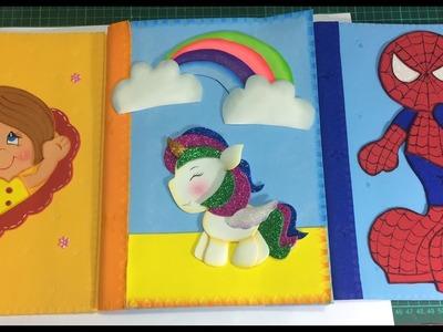 Forro carpeta unicornio paso a paso - Craft DIY manualidad escuela en foamy.goma eva.microporoso