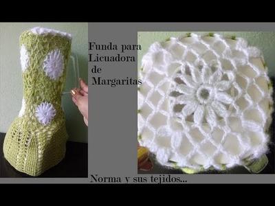 Funda a crochet para licuadora de margaritas