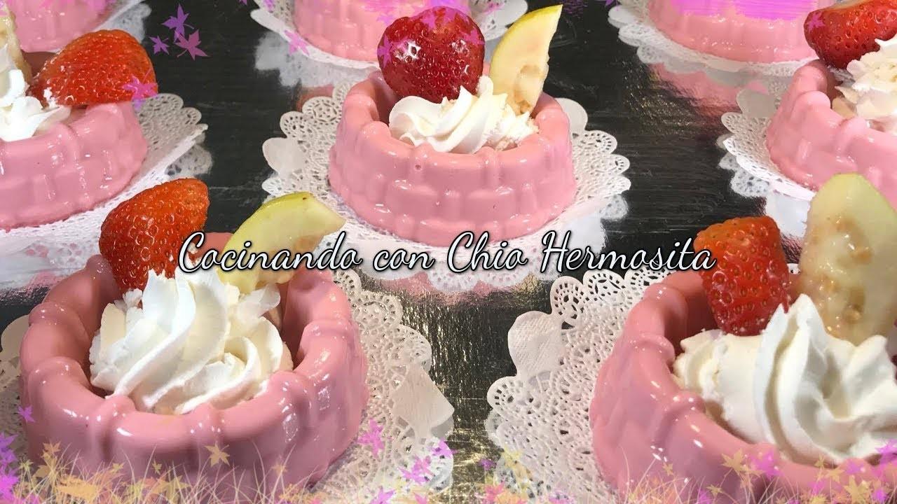 Gelatinas individuales de Guayaba y fresa ????????para $ventas, mesa de postres , fiestas