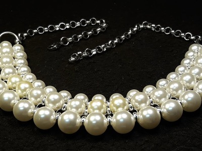 Hermoso y Fácil Collar de Perlas. Clase #89!!!