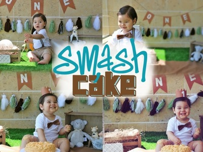 ★IDEA CREATIVA *DIY* SMASH THE CAKE PASO A PASO EN CASA ||  1ST BIRTHDAY || LA MAMA DE NINO