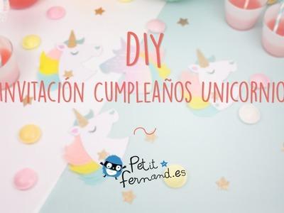 Invitaciones de cumpleaños en forma de Unicornio - Petit-Fernand