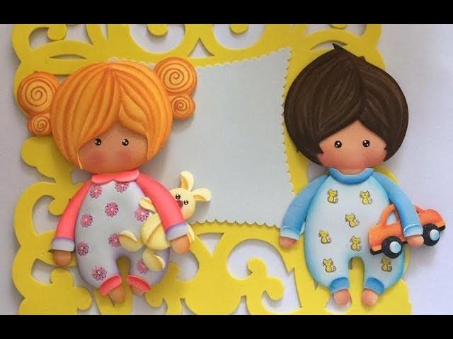 Lindos Bebes paso a paso - Craft DIY manualidad Baby shower en foamy.goma eva.microporoso