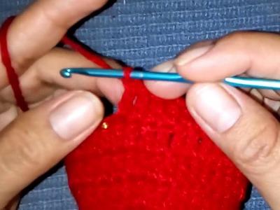 Pantufla tejida fácil de hacer