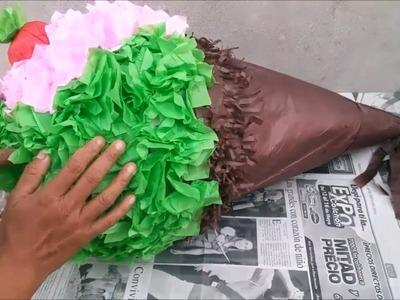 Piñata básica con forma de helado