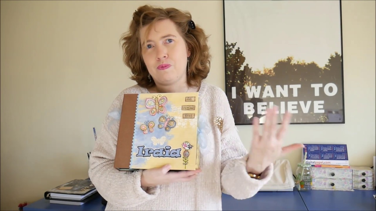 Presentación Abum Scrapbooking Bebé .Proyecto con tutorial